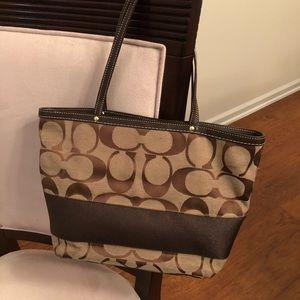 Authentic Classic Coach bucket purse